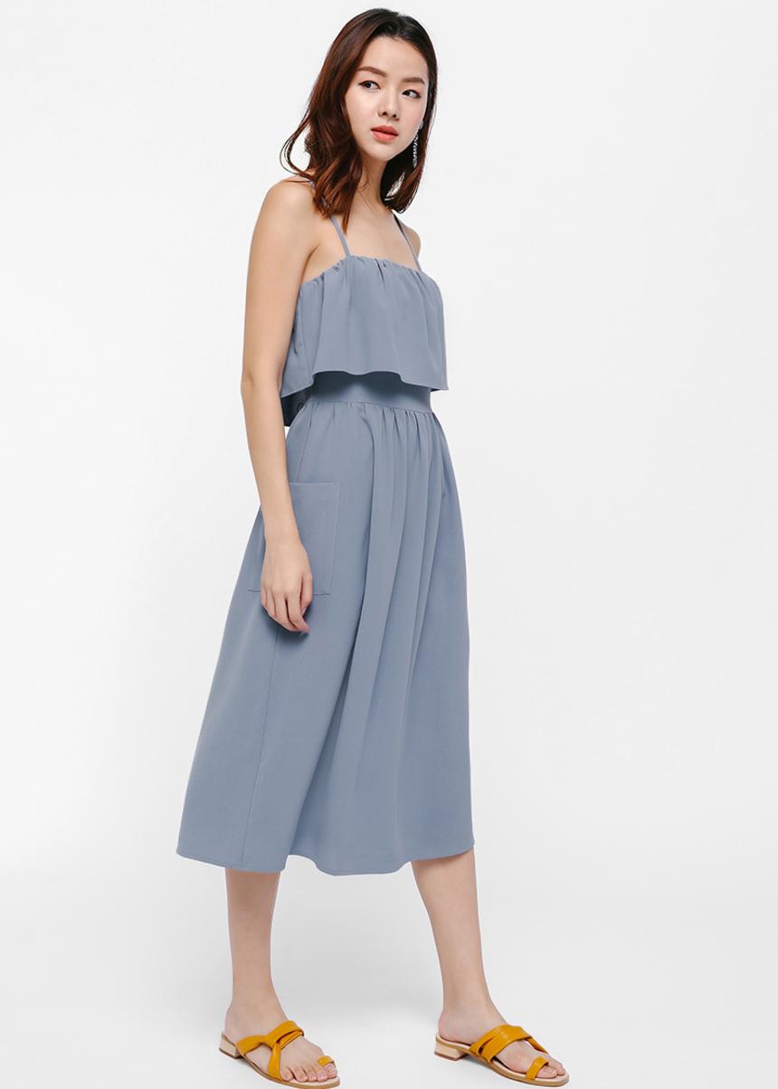 Thelma Layered Midi Dress