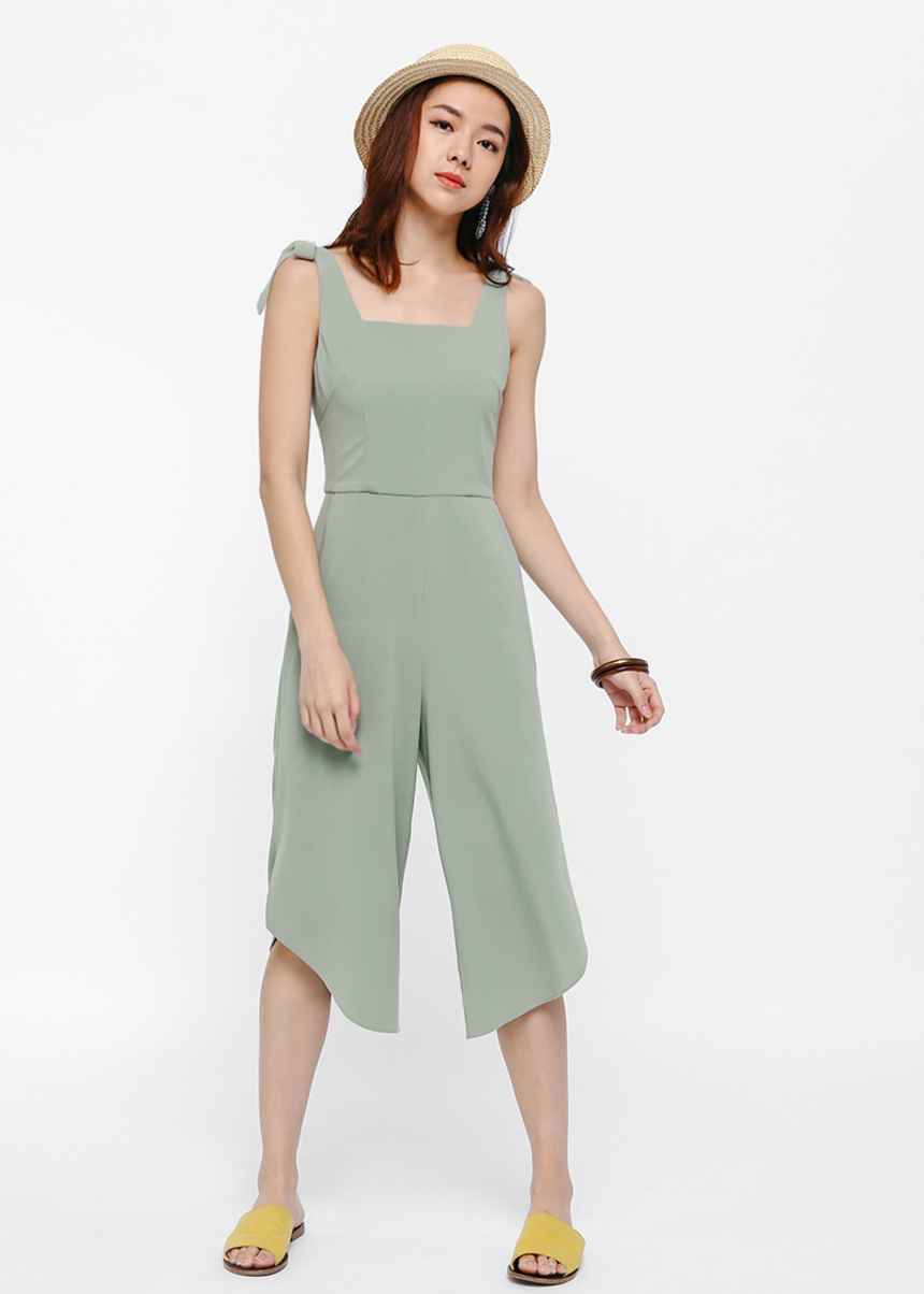 Austen Square Neck Slit Leg Jumpsuit