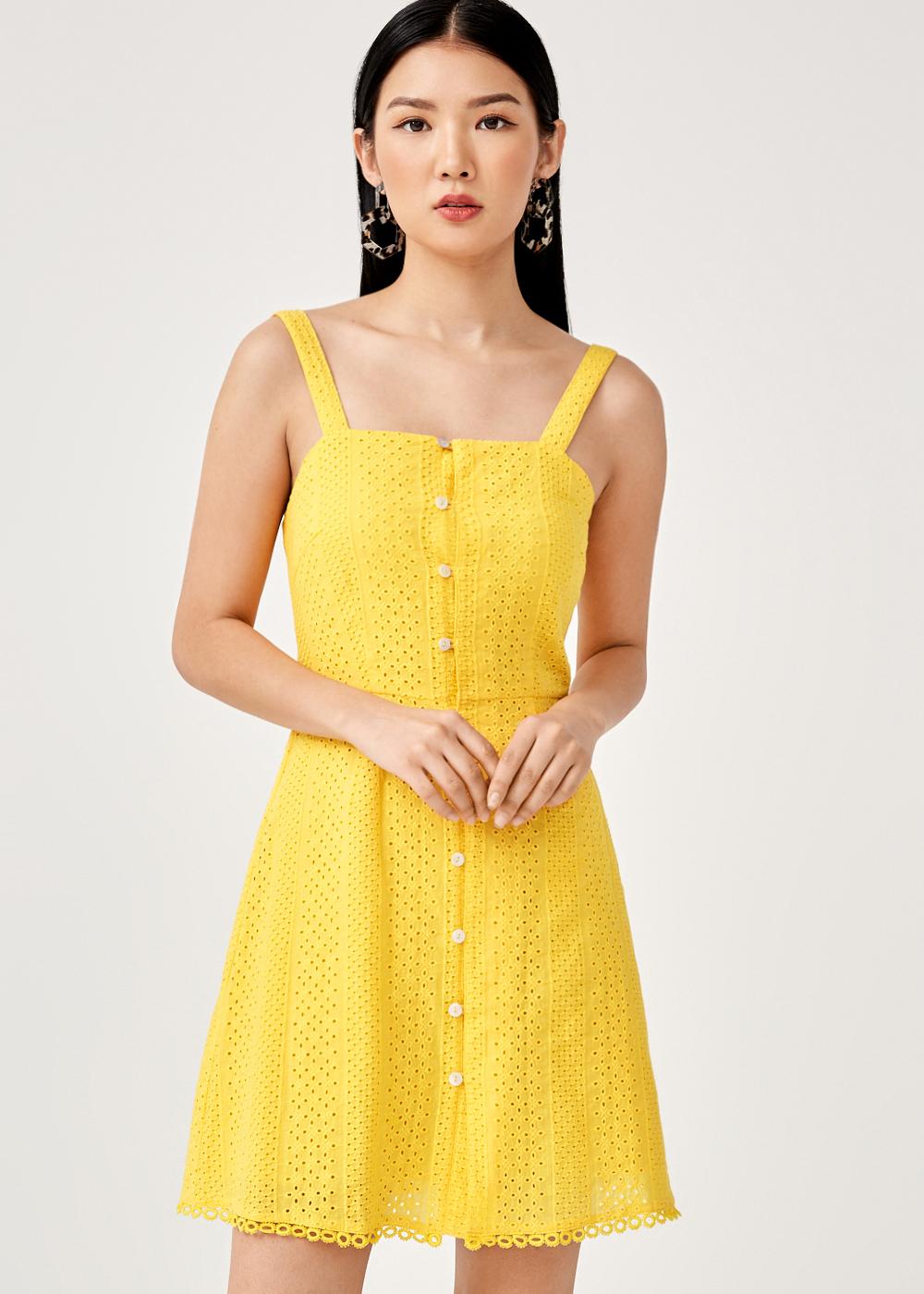 Atkins Broderie Anglaise Mini Dress