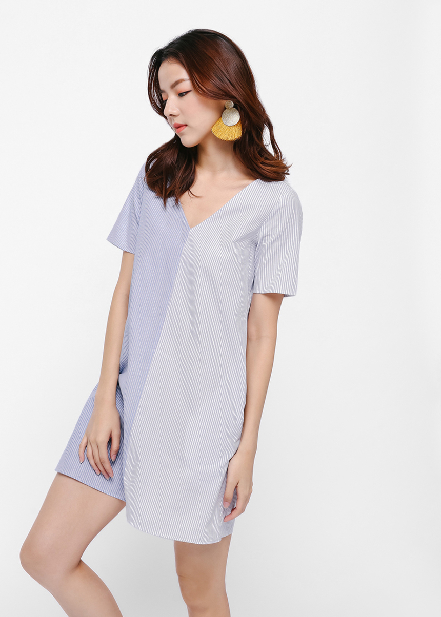 Marlina Pinstripe Relaxed Dress