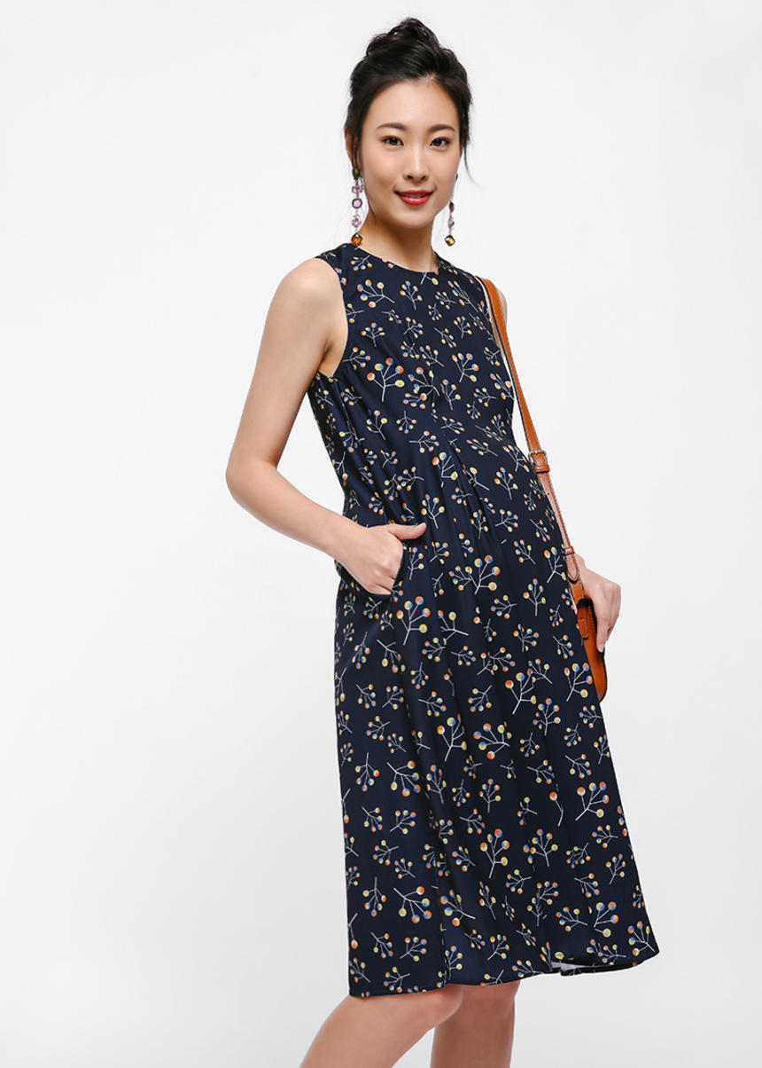 Yvessa Printed Swing Dress