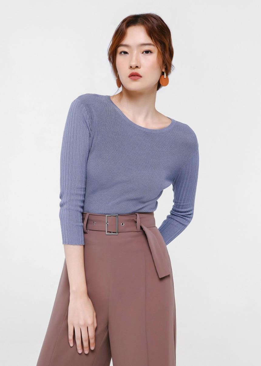 Nelia Knit Sweater Top