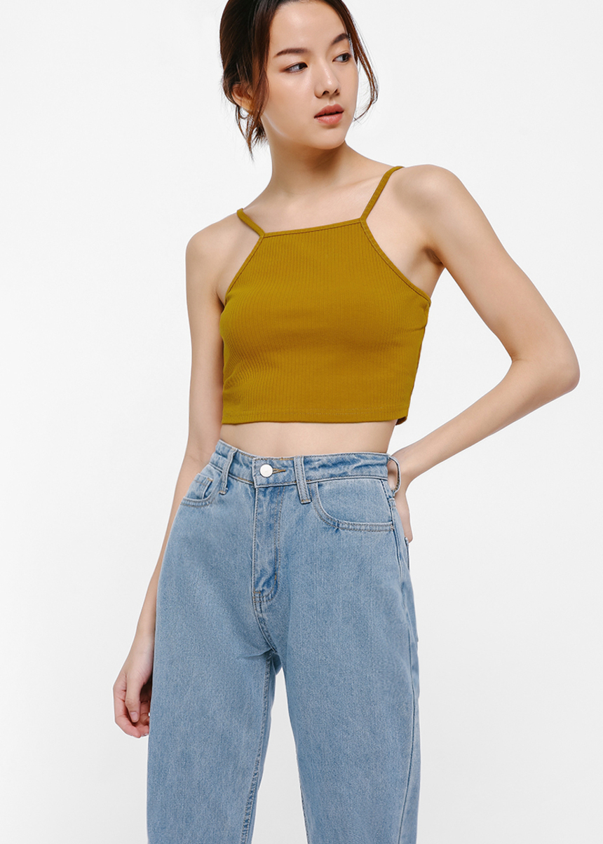 Heather Knit Crop Camisole