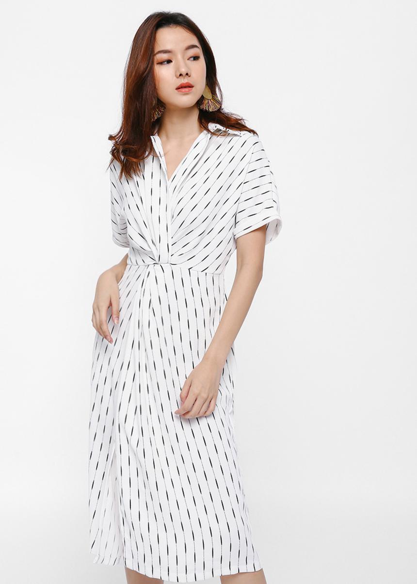 Lillen Wrap Front Printed Dress
