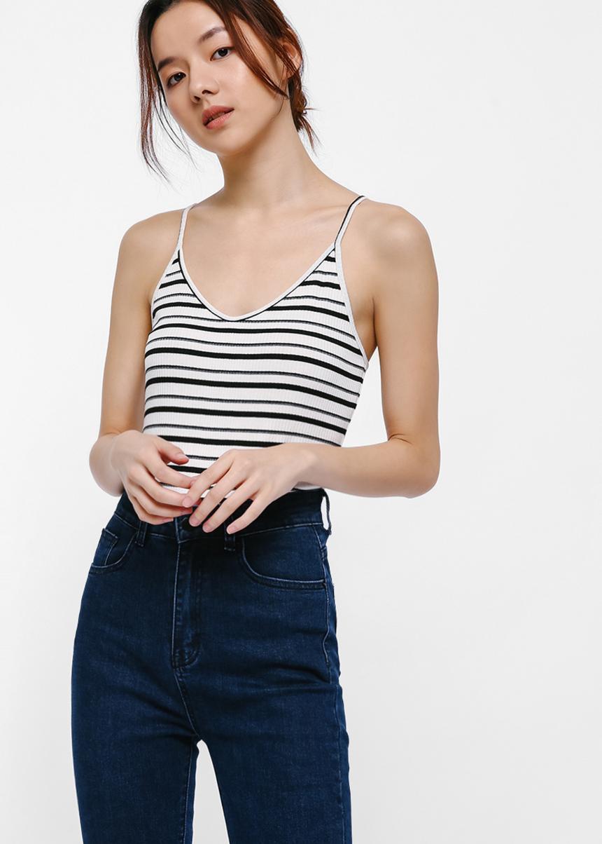 Olivia Knit Striped Bodysuit