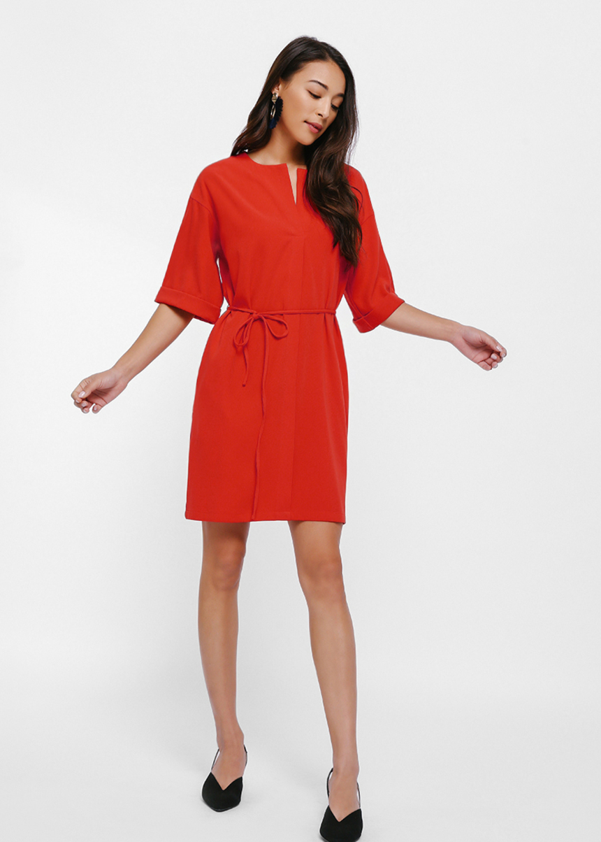 Mignone Relaxed Tie Sash Dress