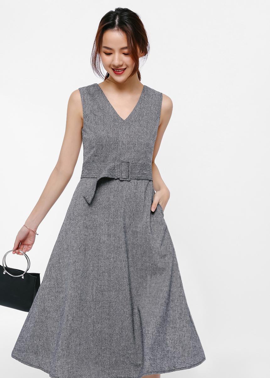 Franco Belted A-line Dress