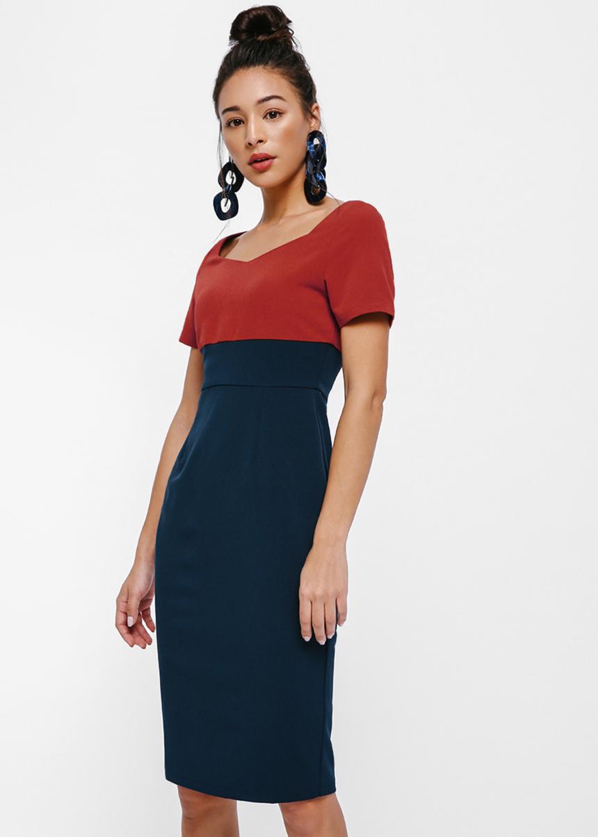 Imogen Colourblock Pencil Dress
