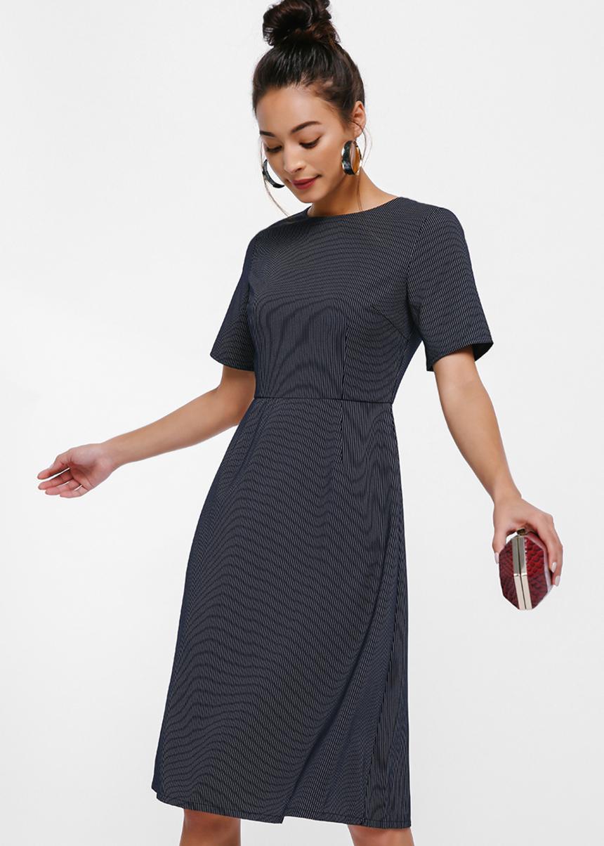 Berenice V-back Pinstripe Dress