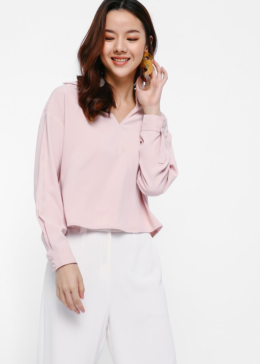 Kelette Wrap-front Shirt