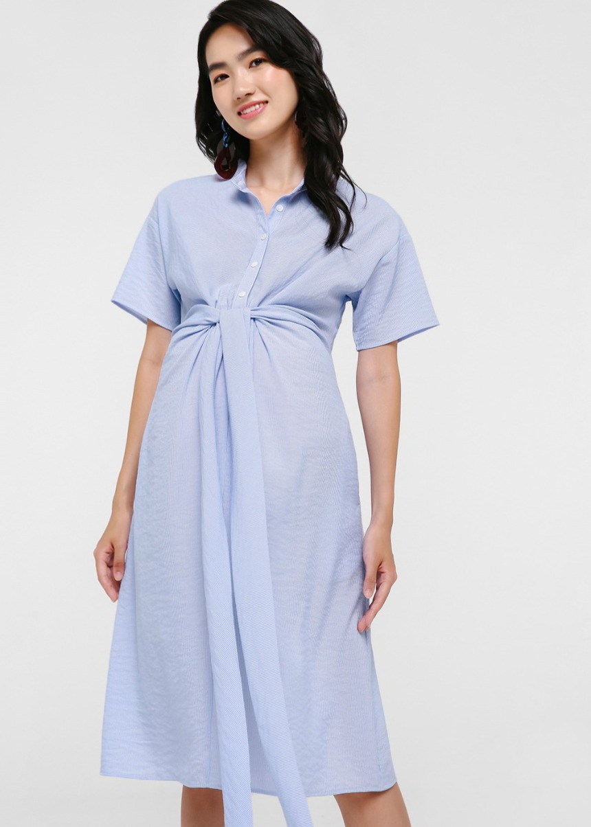 Rubina Tie Front Midi Dress