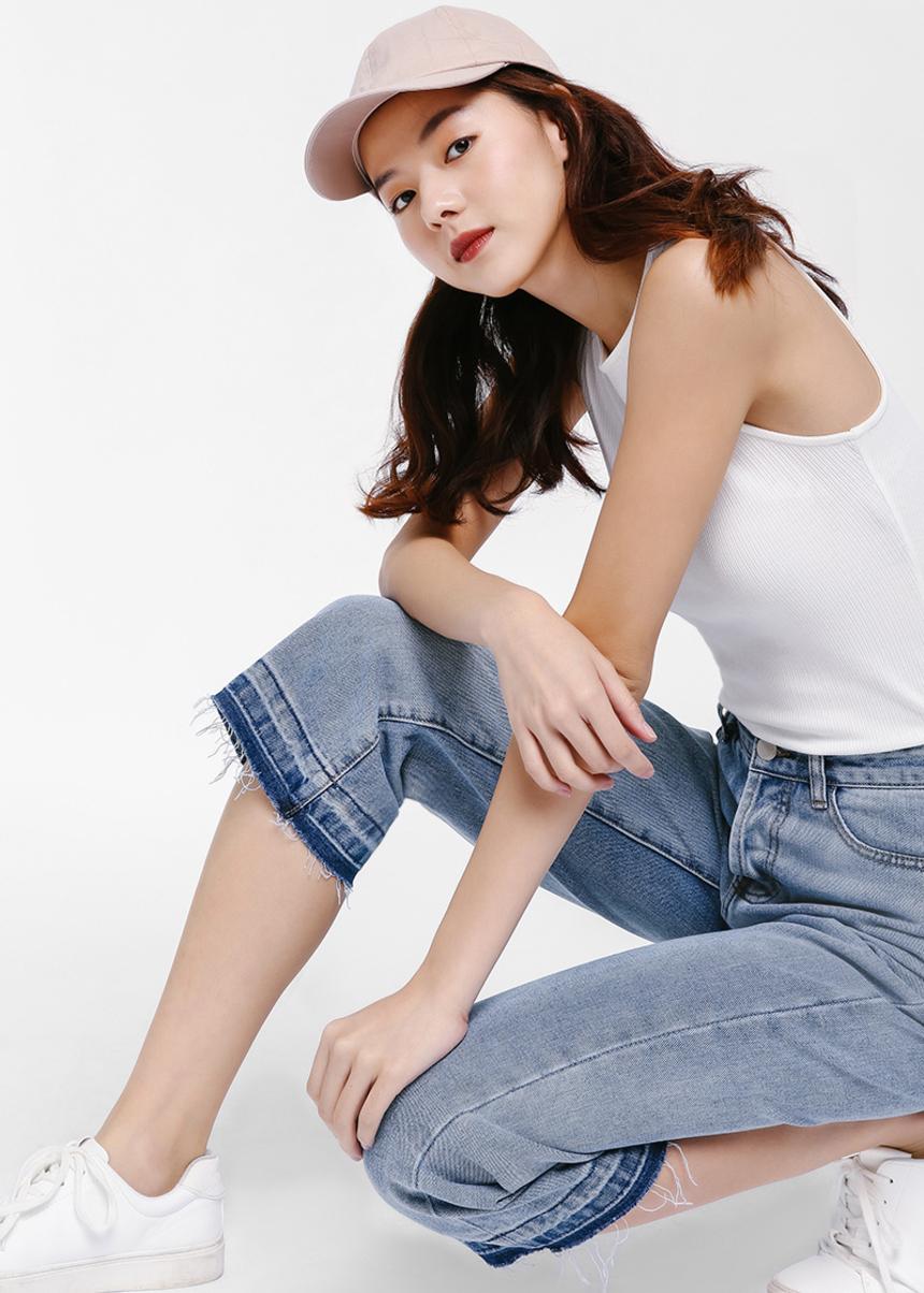 Kellie '90s Straight Crop Jeans
