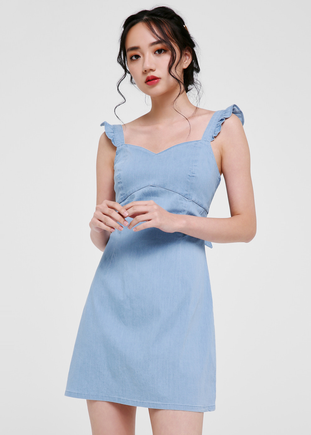 Rosa Denim Tie-back Dress