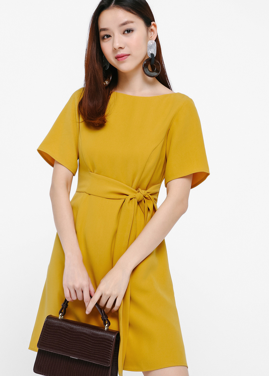 Ofelia Tie-front Shirt Dress