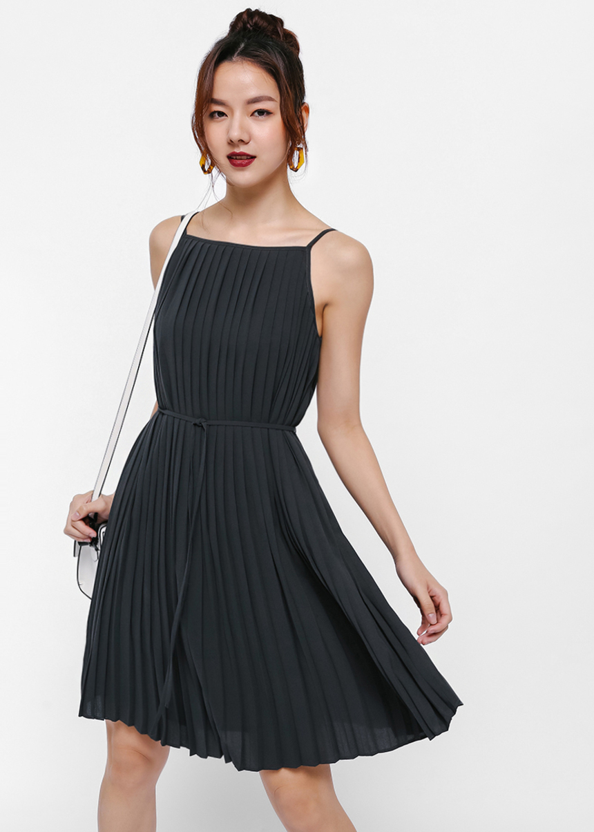 Rinati Pleated Camisole Dress