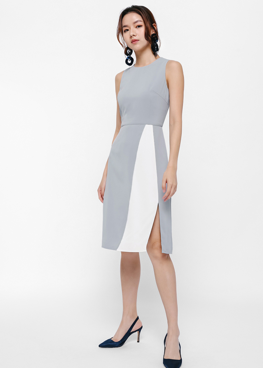 Alexis Colourblock Slit Panel Pencil Dress