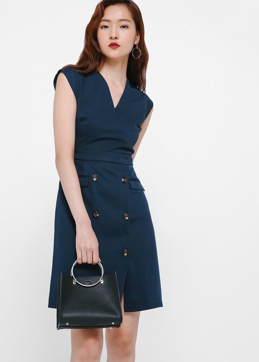 Enya Button Front Dress