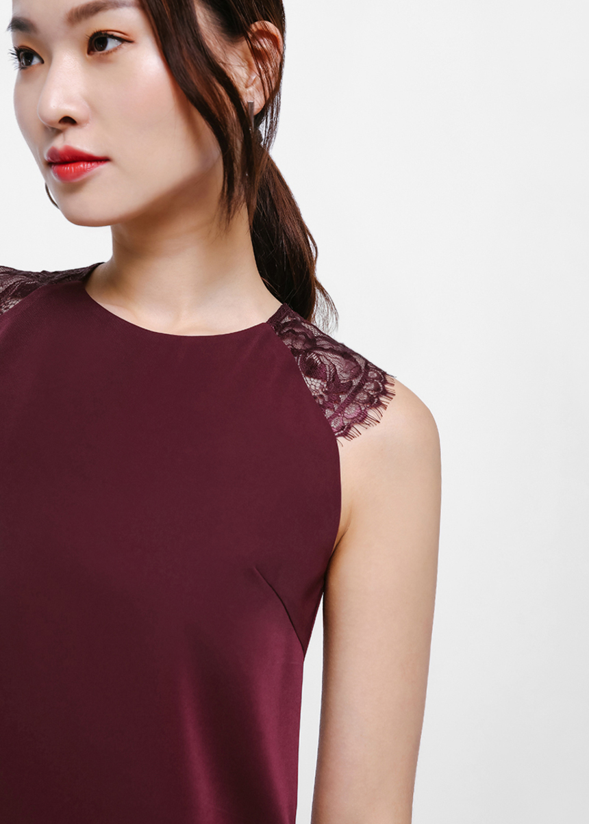 Sora Lace Sleeve Shell Top