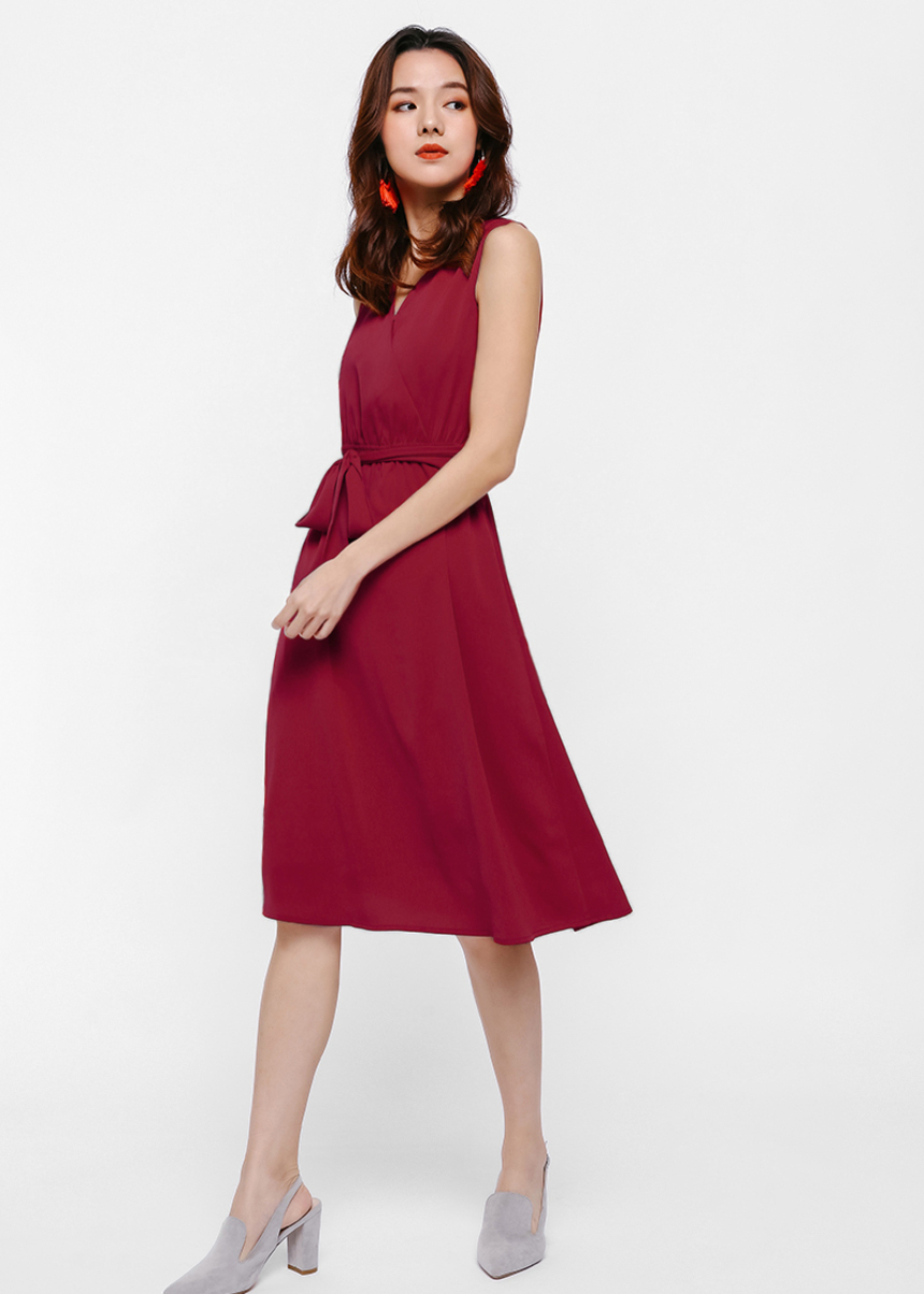 Xyvette V-Neck Wrap Dress