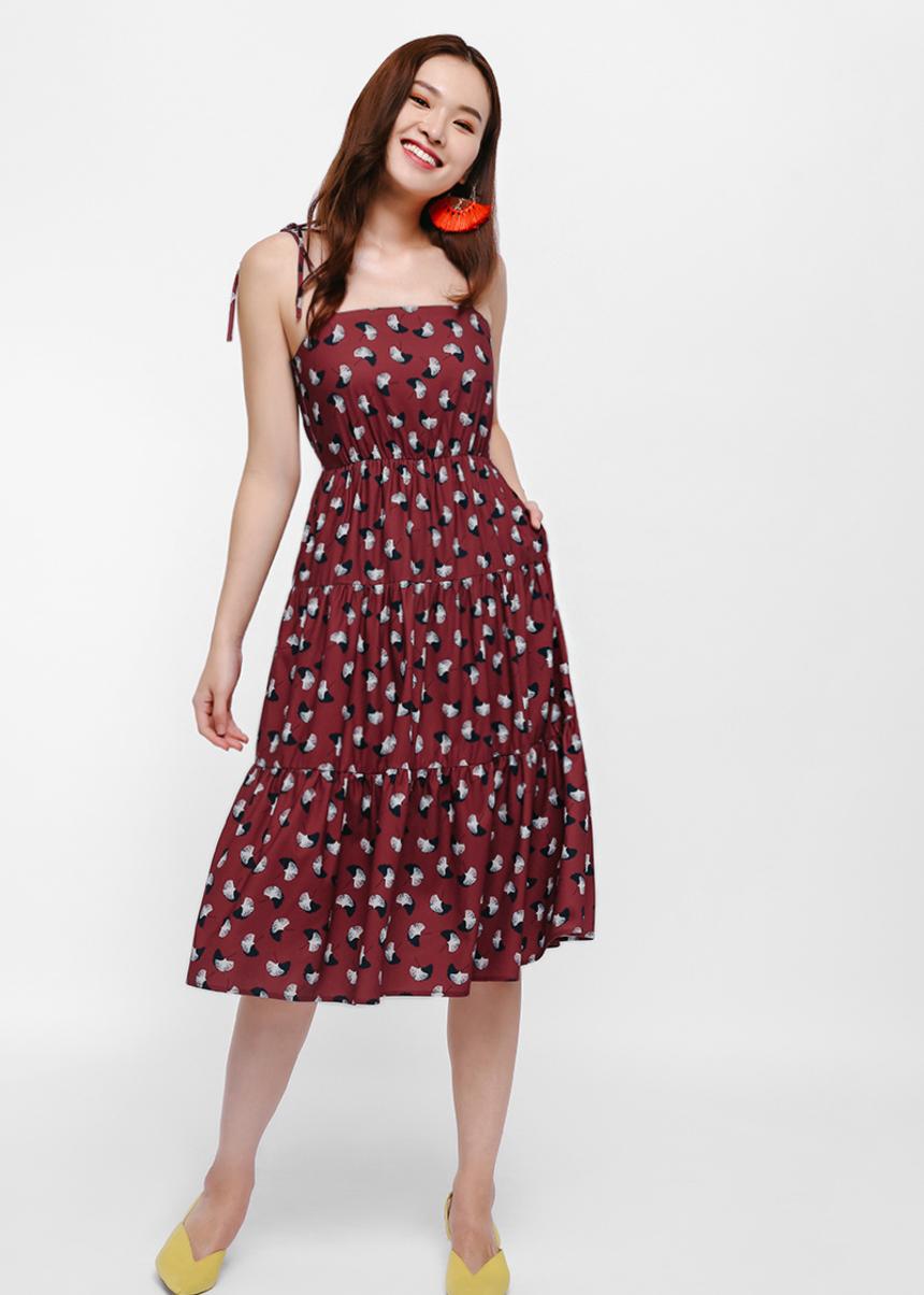 Maxen Printed Midi Dress