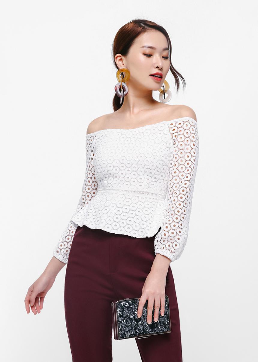 d9f6bf7ace0 Buy Irrin Off-shoulder Crochet Top @ Love, Bonito Singapore   Shop ...
