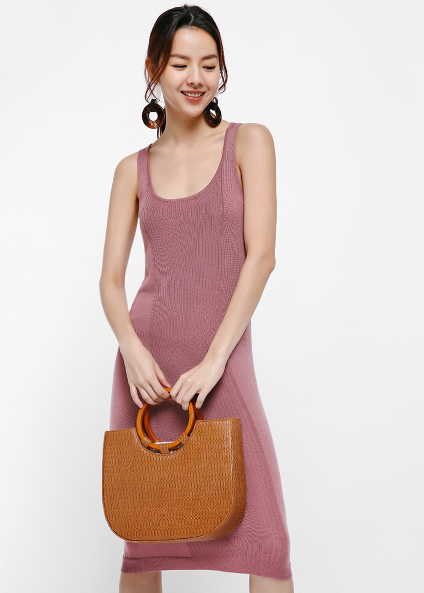 Ileana Sleeveless Knit Midi Dress
