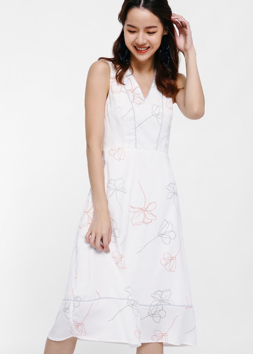 Vietta Printed Midi Dress