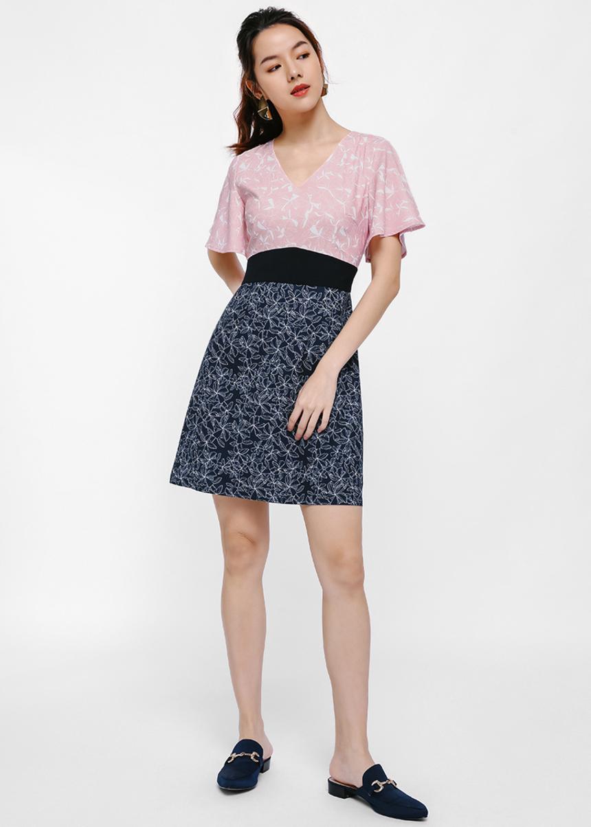 Kenzie Contrast Print Dress