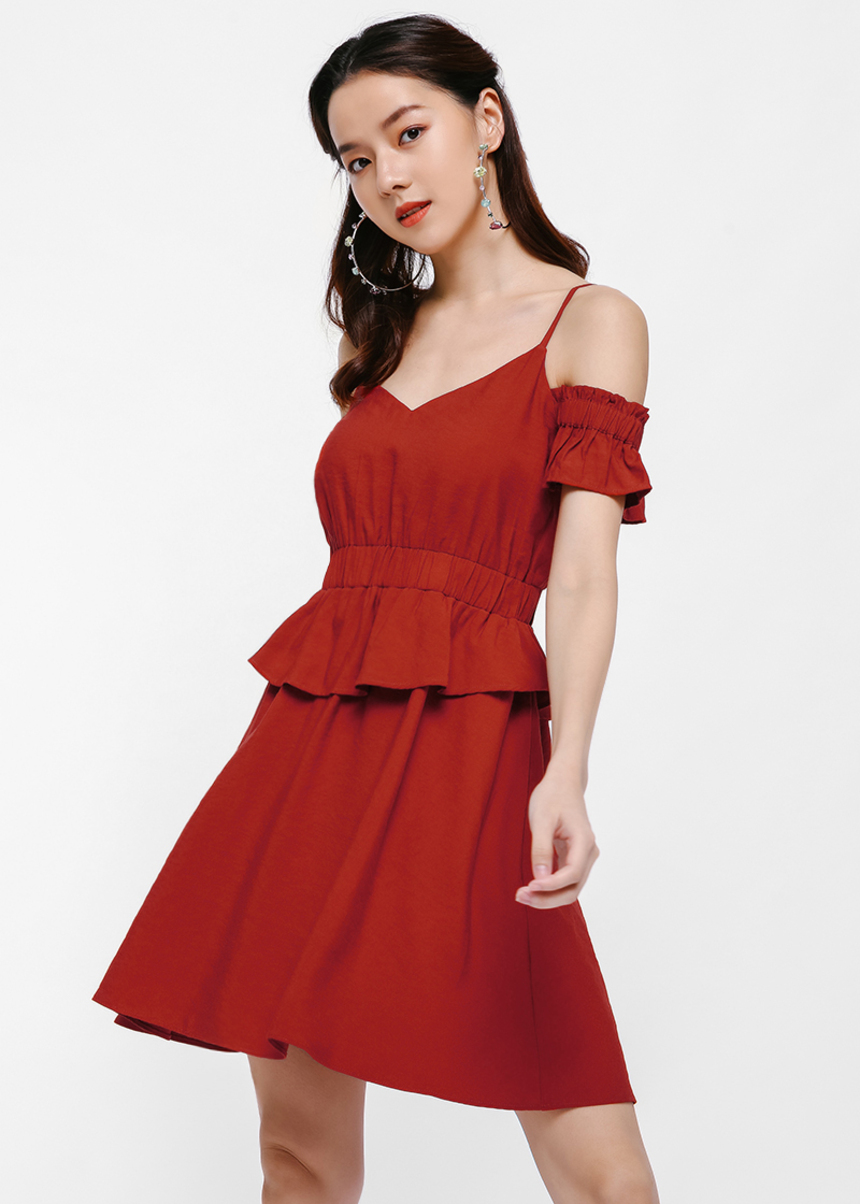 Mayene Layered Ruffle Dress
