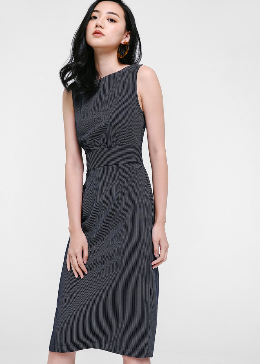 Brianna Pinstripe Dress