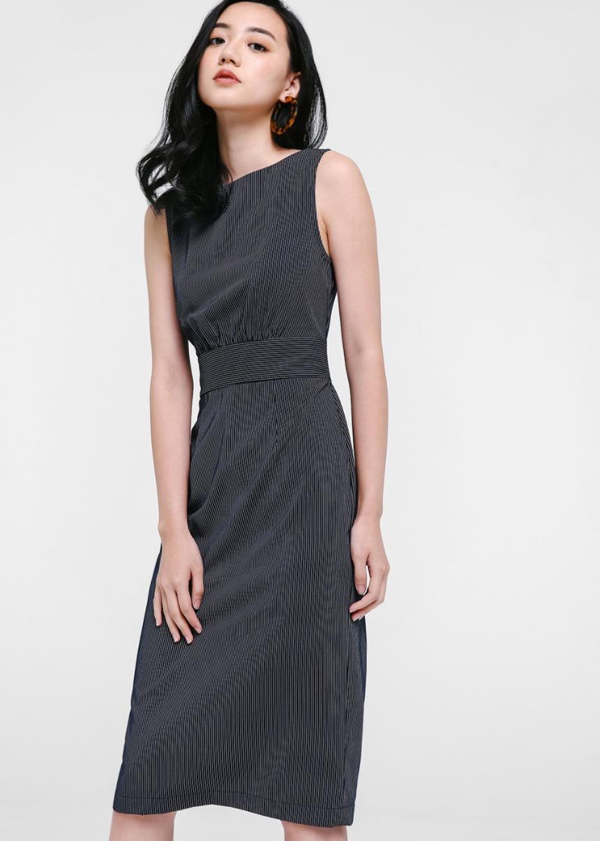 Brianna Pinstripe Dress