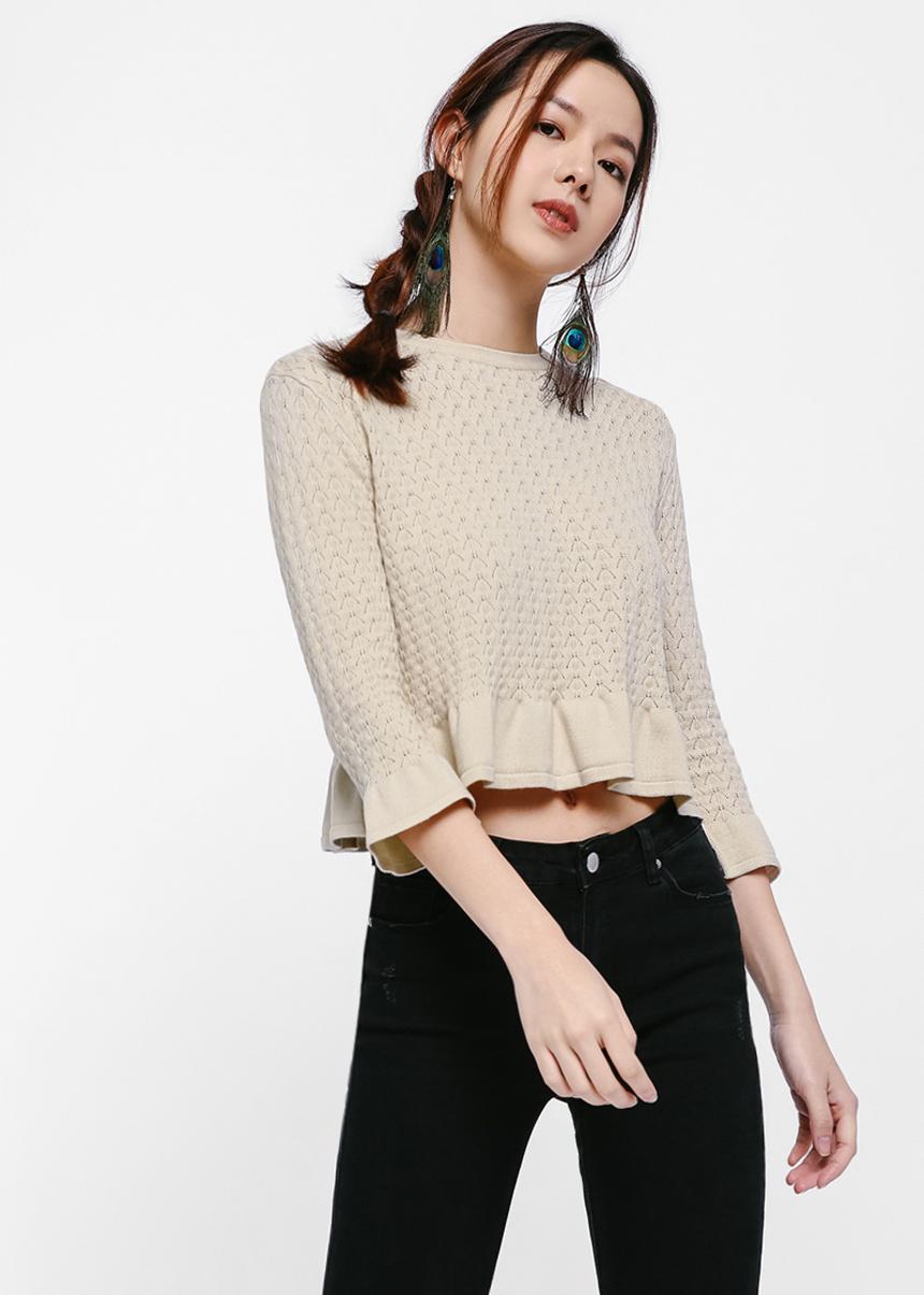 Nadya Flare Hem Sweater