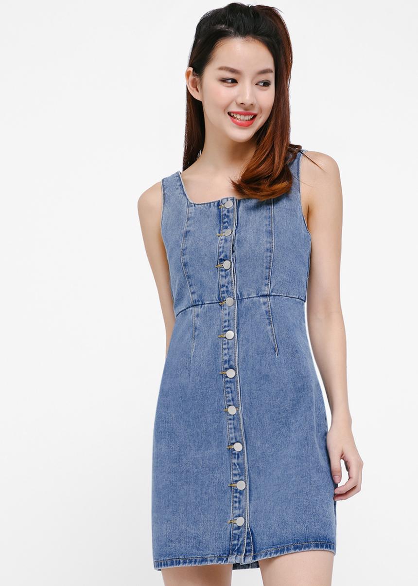 Monica Button Down Mini Dress
