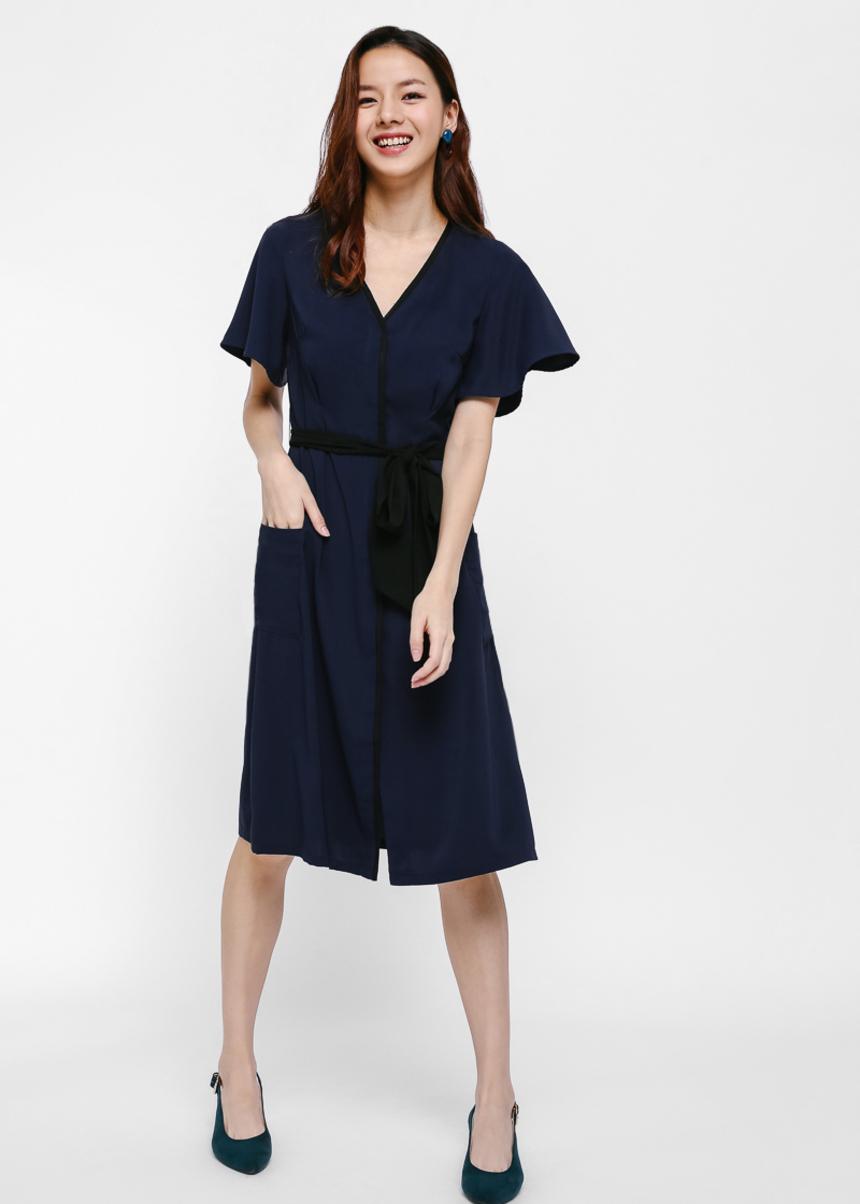 Patty Flutter Sleeve Midi Dress