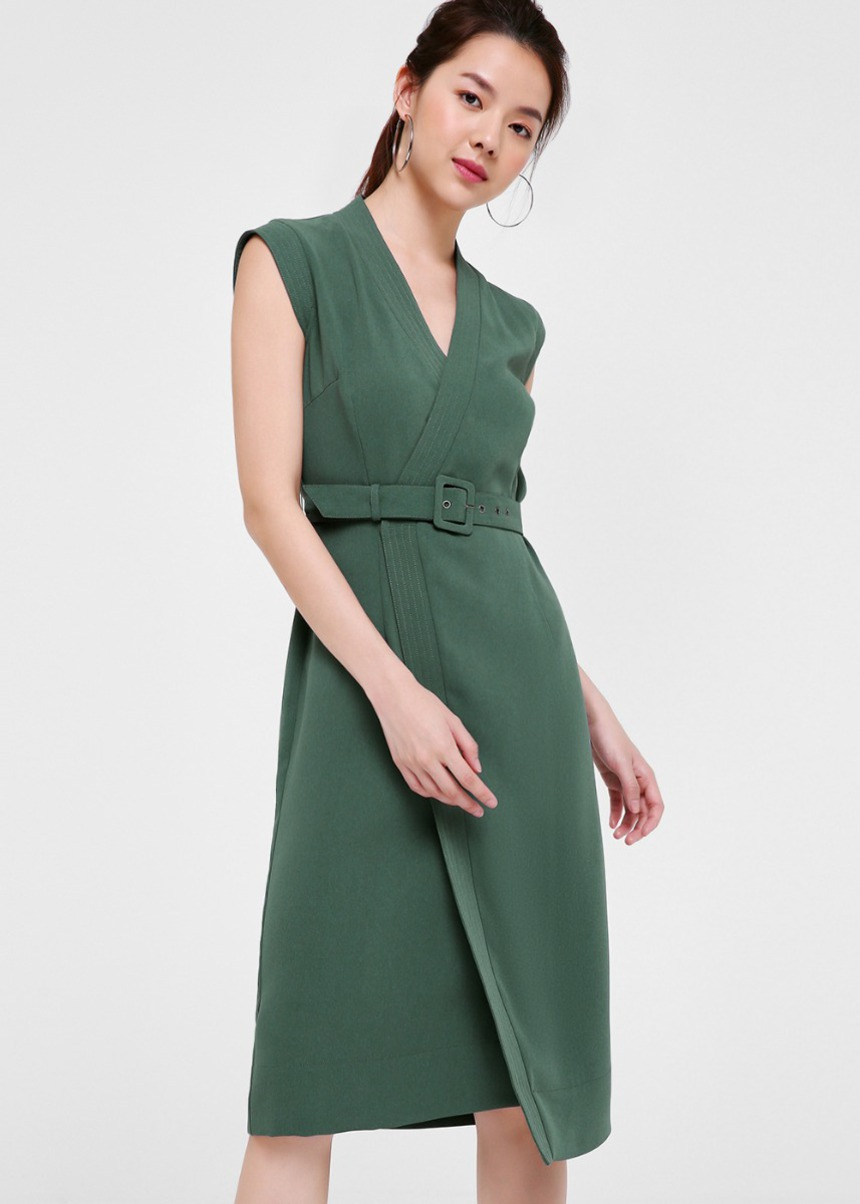 Harper Belted Midi Dress