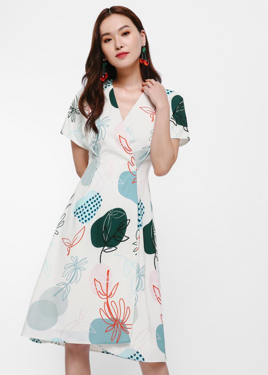 Nova Printed Wrap Dress