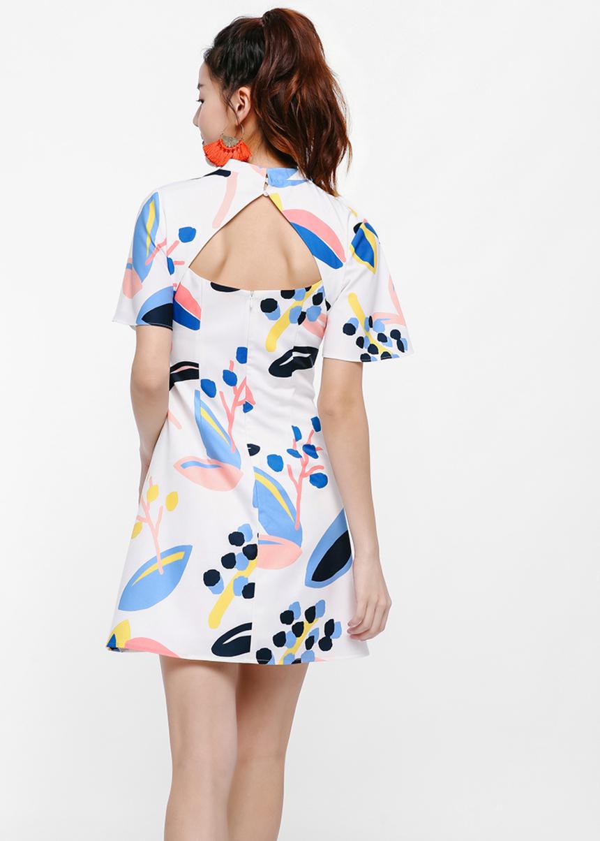 Cora Printed Skater Dress