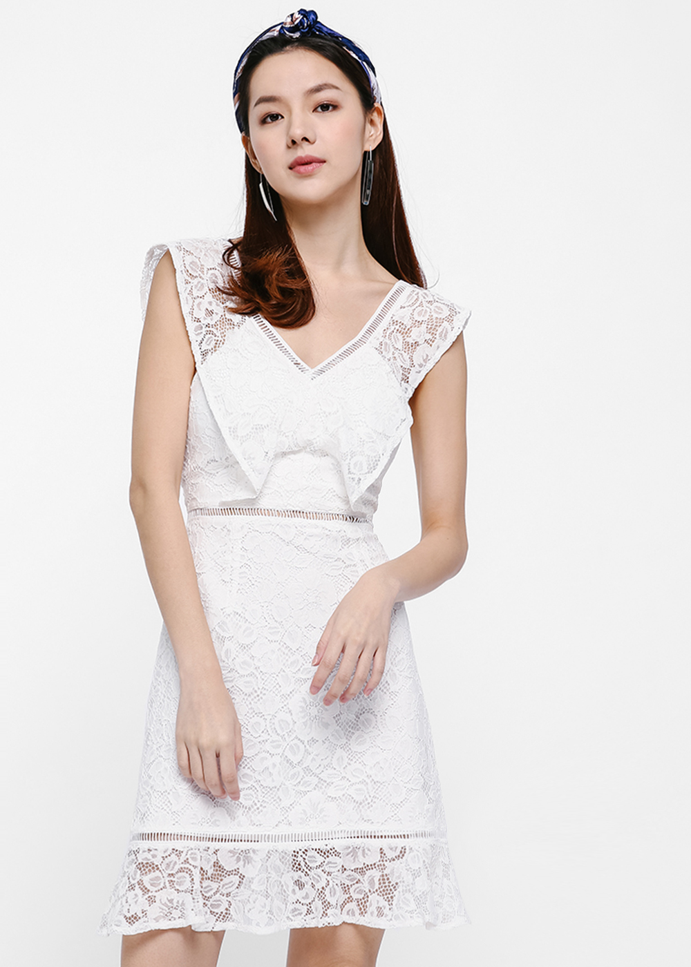 Ilyas Lace Cascade Dress