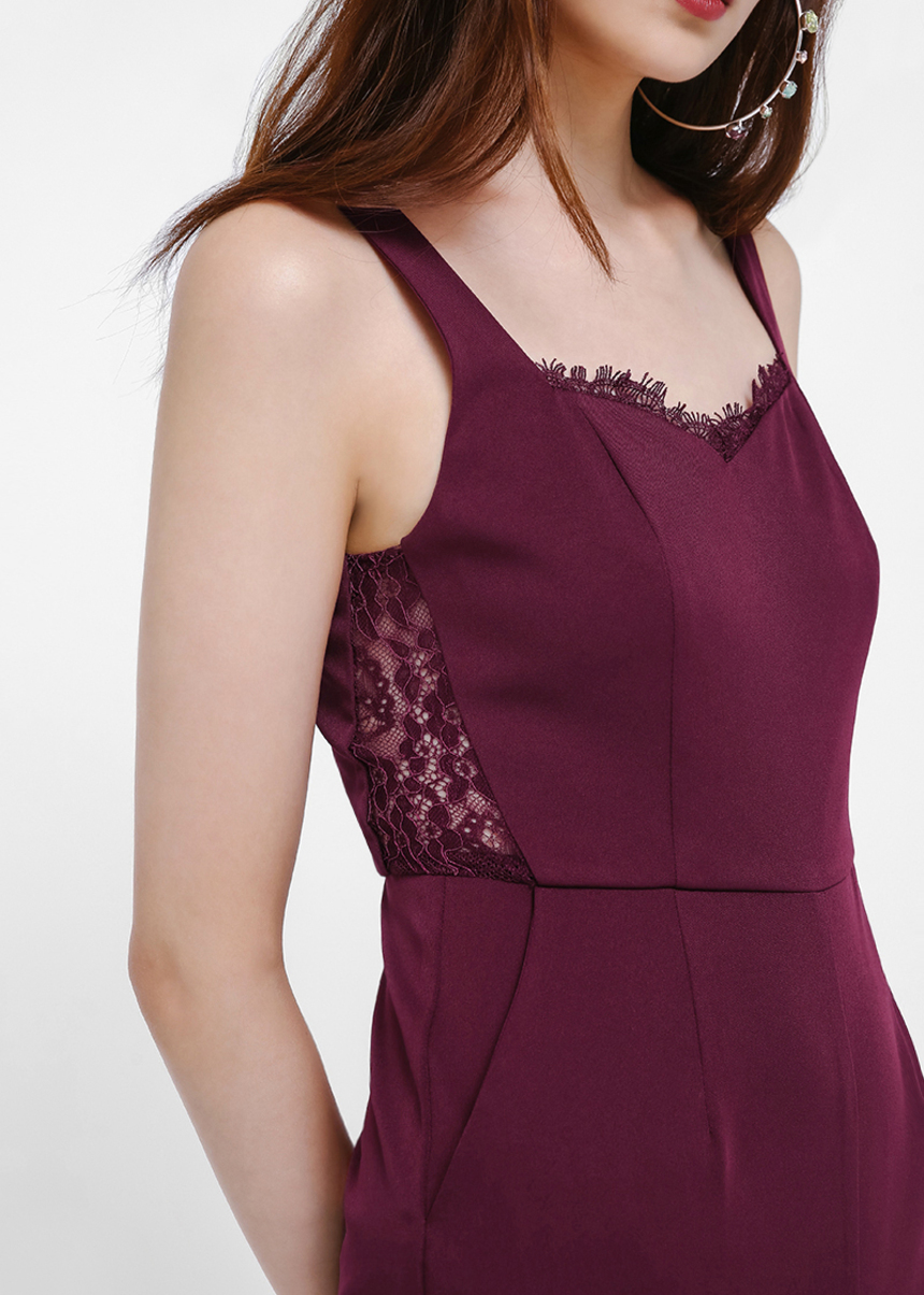 Idina Lace Trim Jumpsuit
