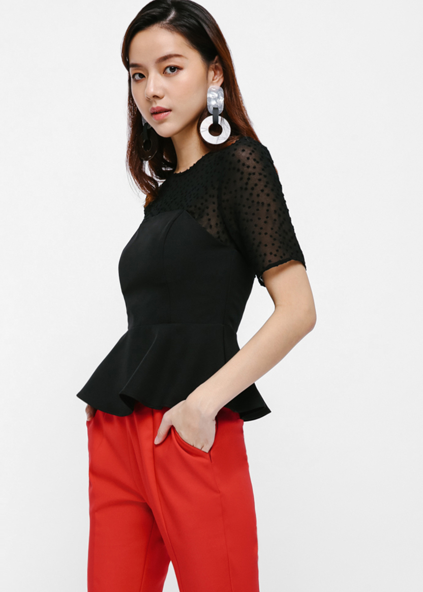 Alfie Open Back Peplum Top
