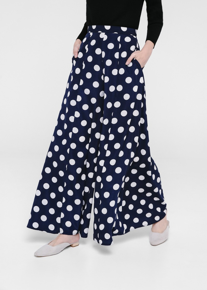 Carola Polka Dot Wide Leg Pants