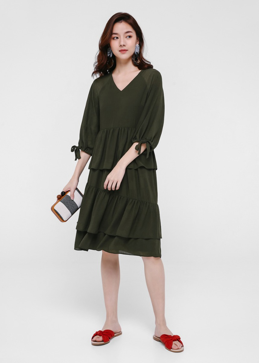 Ulani Tier Midi Dress