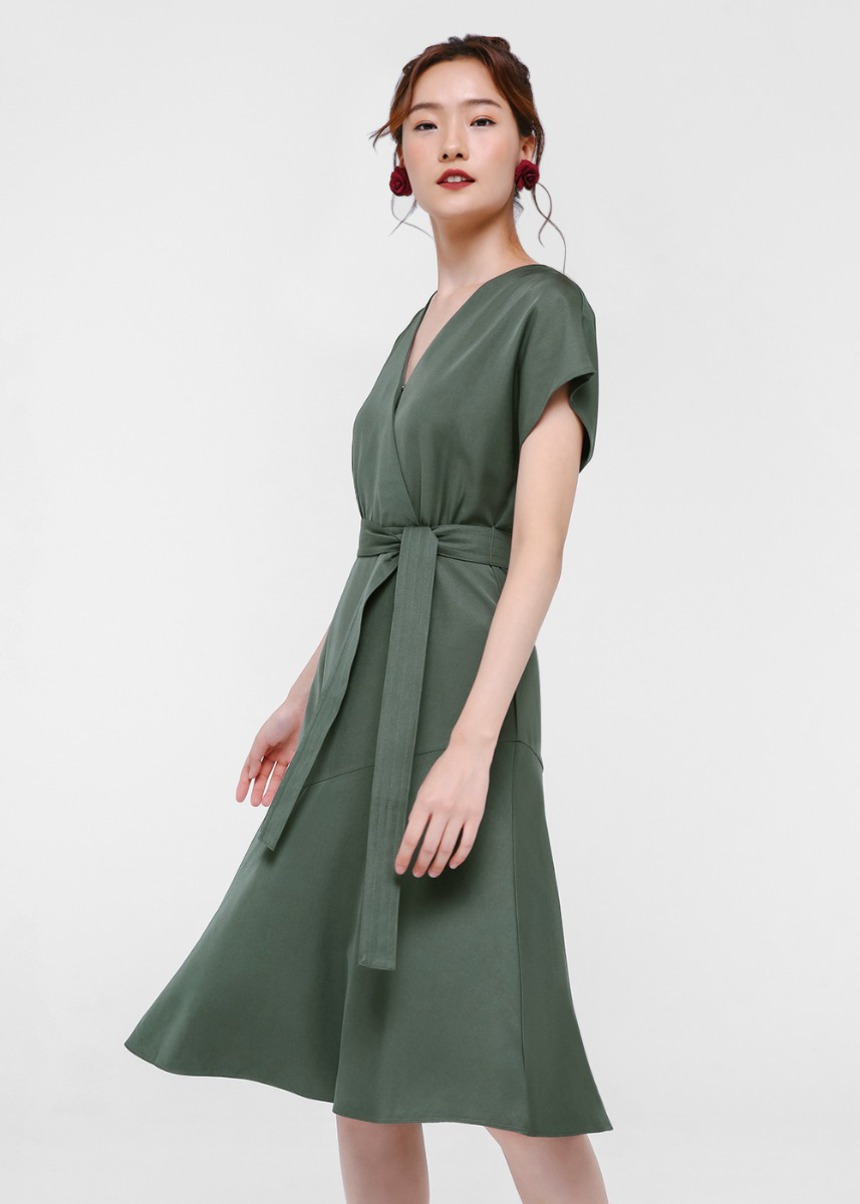 Paige Flare Hem Wrap Dress