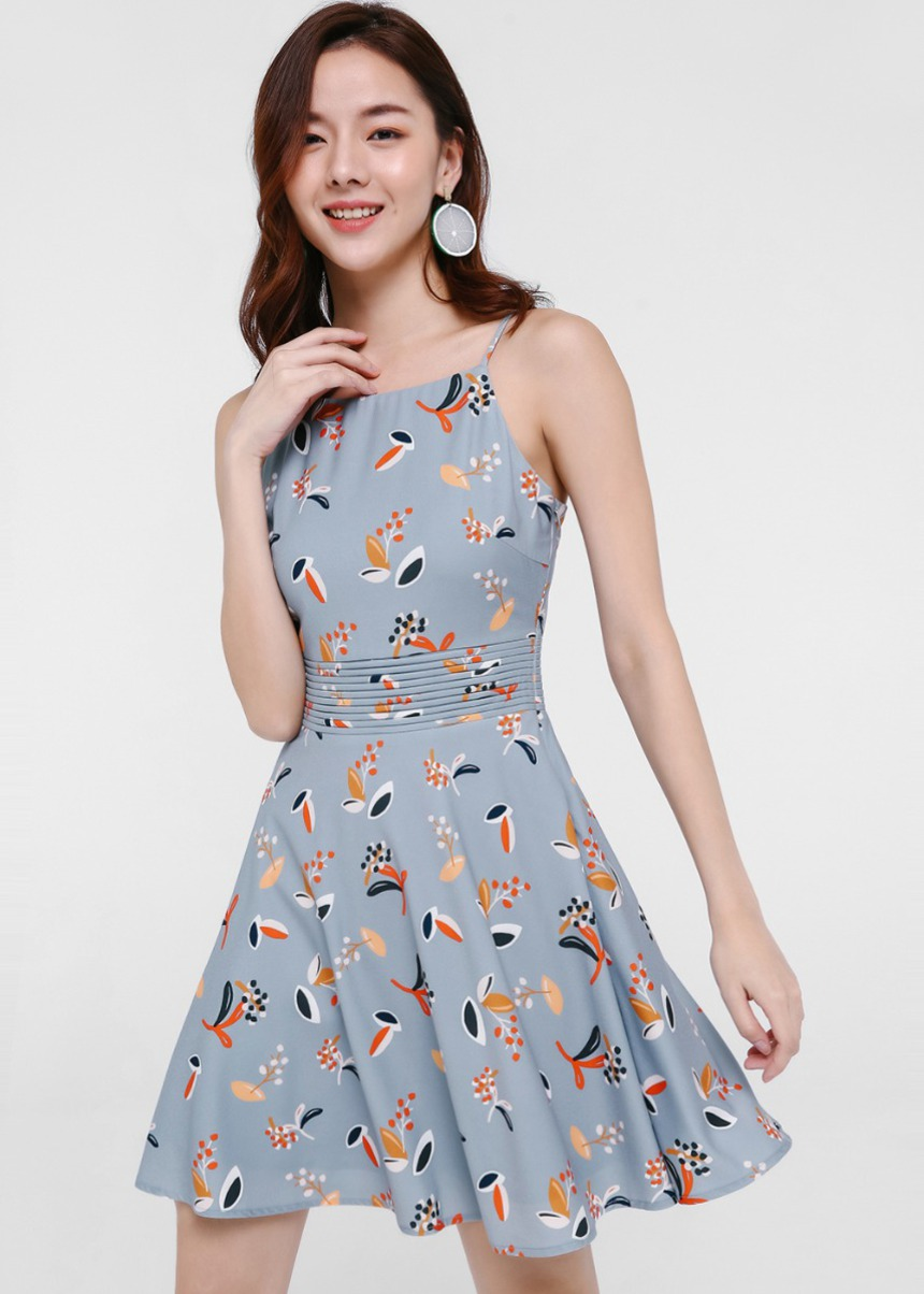 Kania Printed Skater Dress