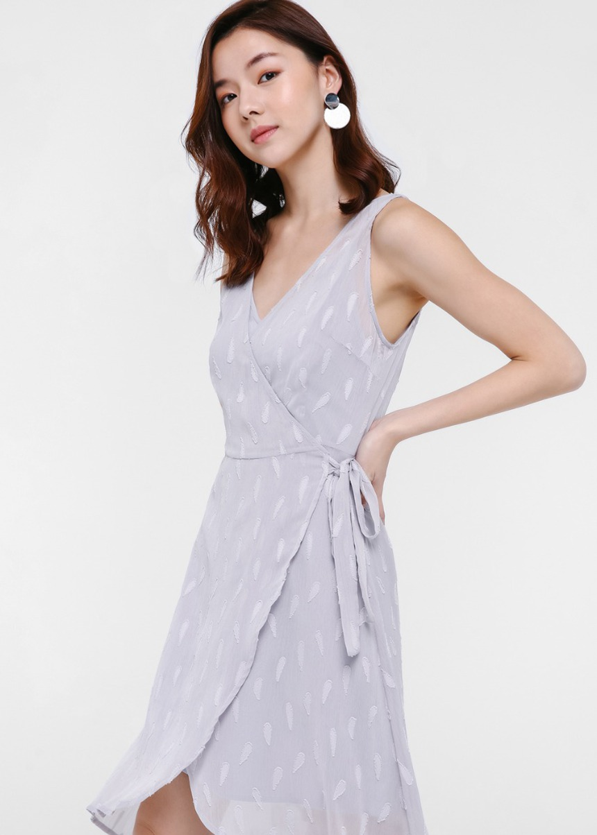 Kenna Textured Wrap Dress
