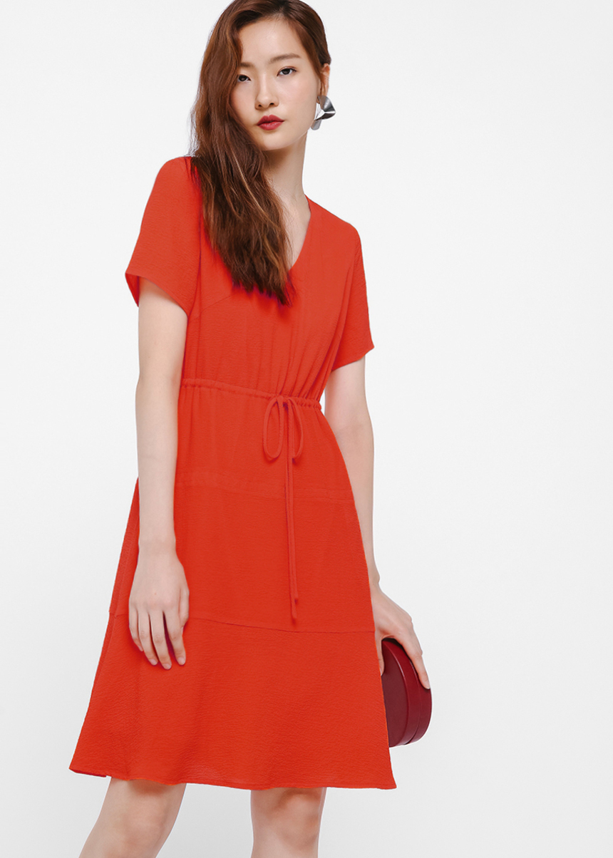 Juniper Tie Front A-line Dress