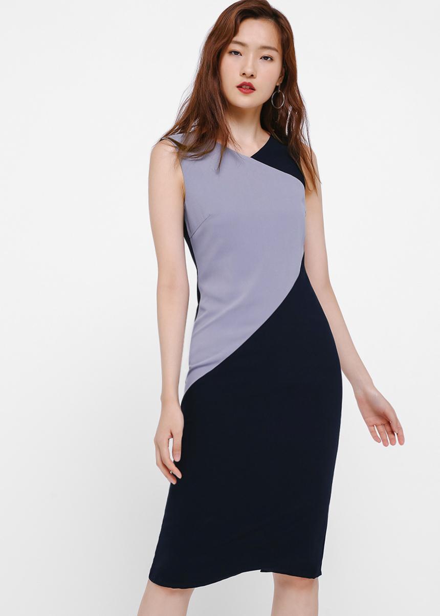 Dorota Colorblock Midi Dress