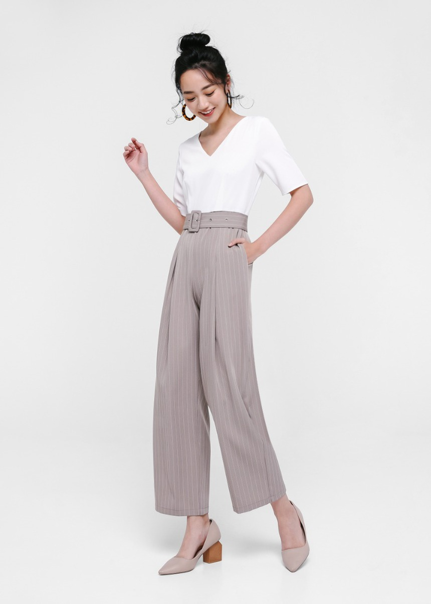 Fabrice Belted High Waist Pants