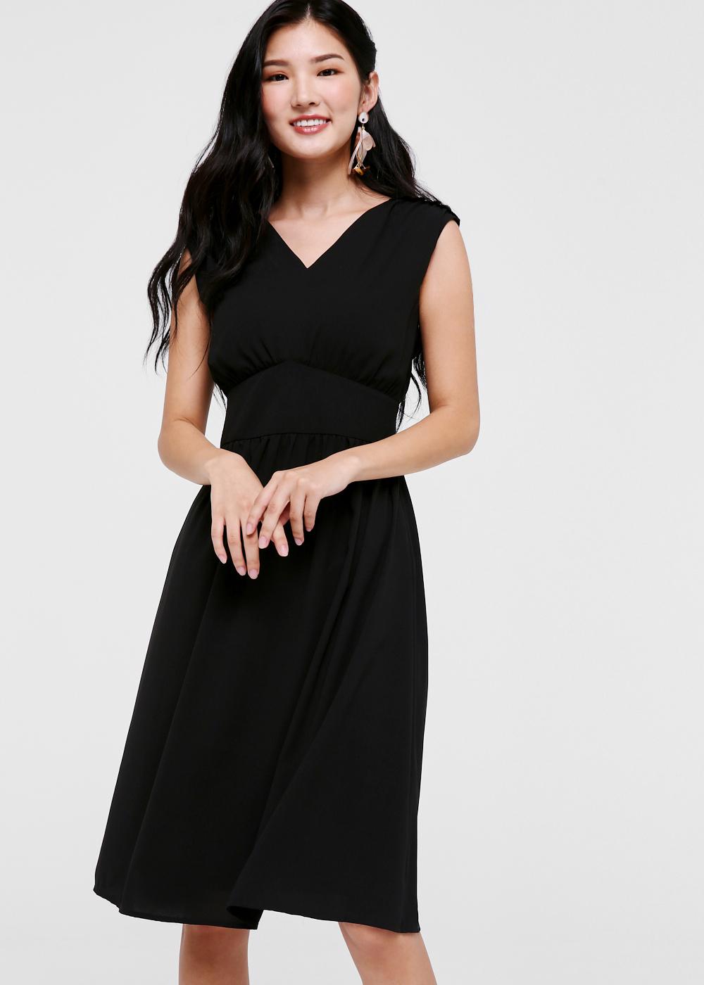 Lex Empire Waist Midi Dress