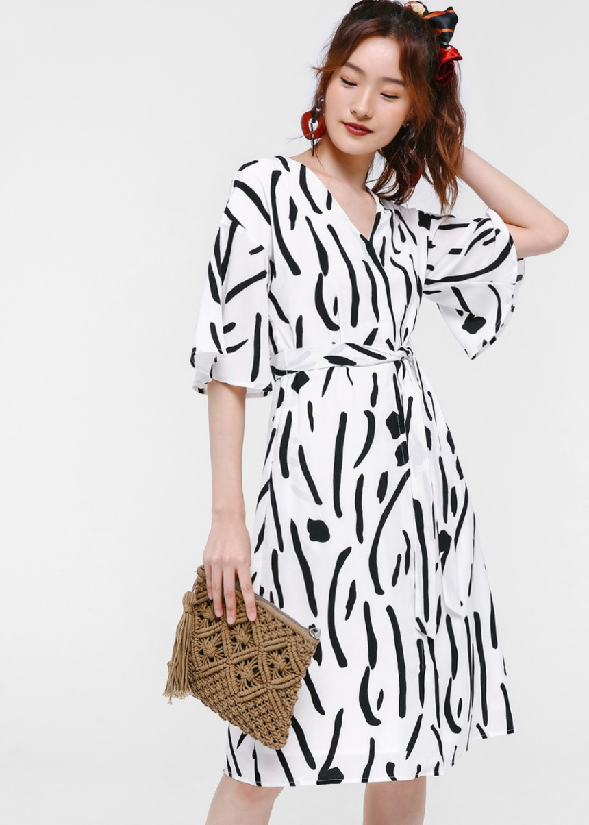 Idella Printed Midi Dress